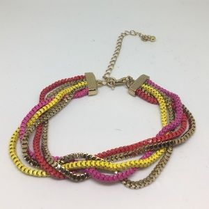 Jewelry - Yellow pink red gold metal link bracelet 💋